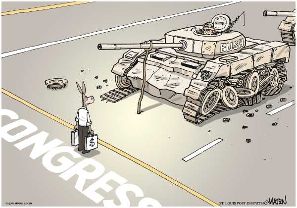 Editorial Cartoon by RJ Matson, Cagle Cartoons on Surge Continues in Iraq