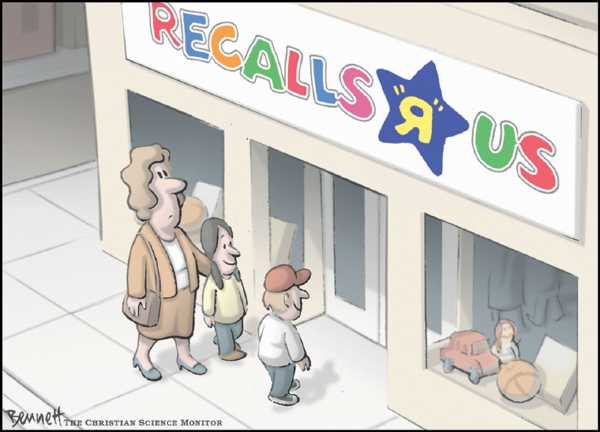 Editorial Cartoon by Clay Bennett, Christian Science Monitor on In Other News