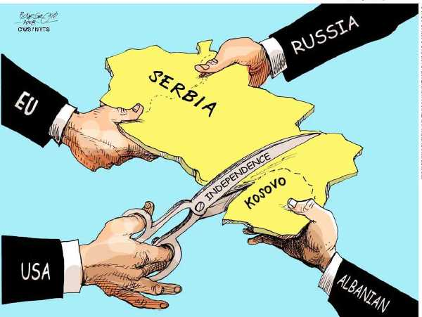 Image result for Kosovo CARTOON