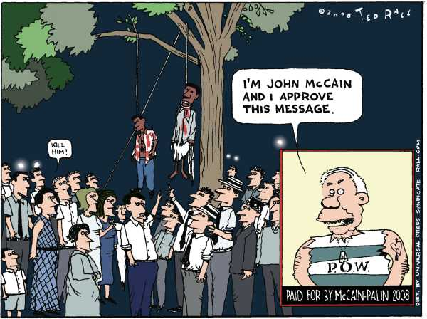 Editorial Cartoon by Ted Rall on McCain Maintaining High Standards