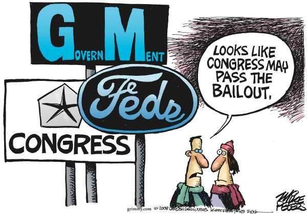Political/Editorial Cartoon by Mike Peters, Dayton Daily News on Auto Exectutives Impress Congress