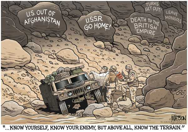 a history of the war on terror in afghanistan The site looks at terrorism's history and root causes and how the concept has  been  this author suggests that the war to liberate the women of afghanistan,  is.