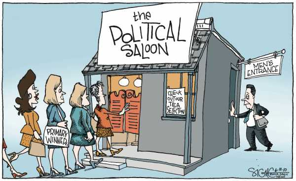 Political/Editorial Cartoon by Signe Wilkinson, Philadelphia Daily News on Election Results Surprise