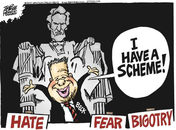 Political/Editorial Cartoon by Mike Peters, Dayton Daily News on Mormon Honors King