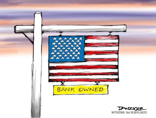 Political/Editorial Cartoon by Jeff Danziger, CWS/CartoonArts Intl. on Banks Reaping Record Profits