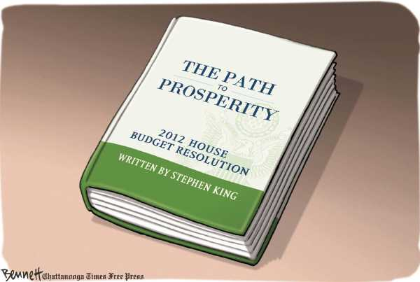 Political/Editorial Cartoon by Clay Bennett, Chattanooga Times Free Press on GOP Wins Budget Battle