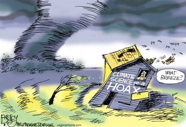 Political/Editorial Cartoon by Pat Bagley, Salt Lake Tribune on Tornadoes Ravage Southeast