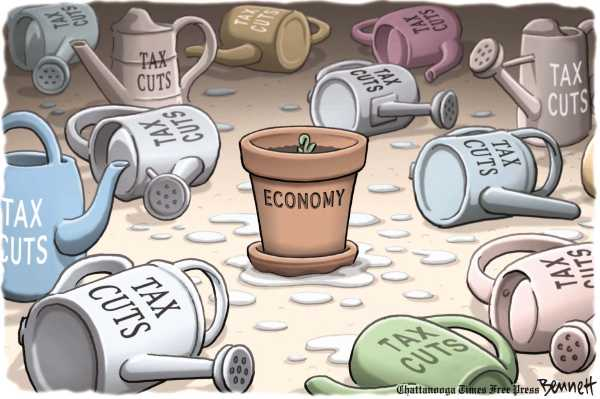Political/Editorial Cartoon by Clay Bennett, Chattanooga Times Free Press on Stock Market Plummets