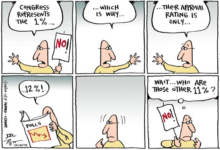 Political/Editorial Cartoon by Joel Pett, Lexington Herald-Leader, CWS/CartoonArts Intl. on Congress Unifying Nation