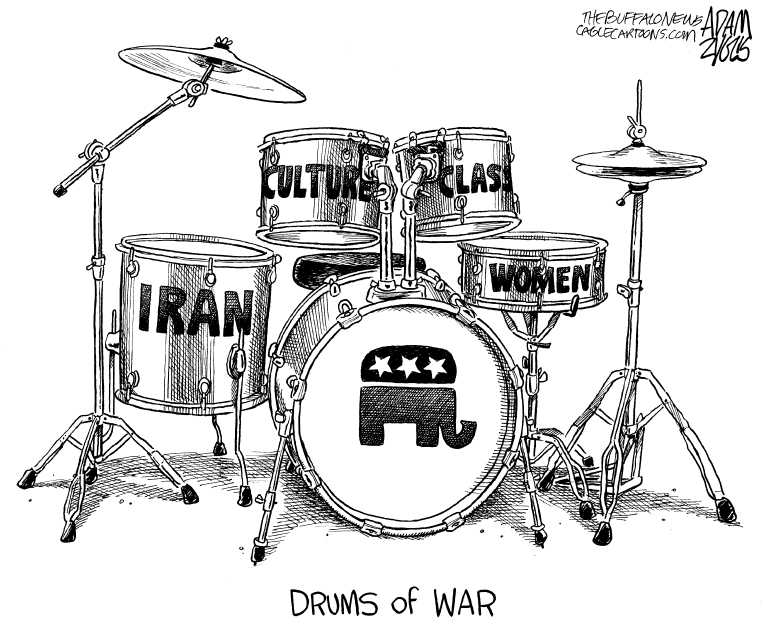 Political/Editorial Cartoon by Adam Zyglis, The Buffalo News on GOP Fine-tuning Message