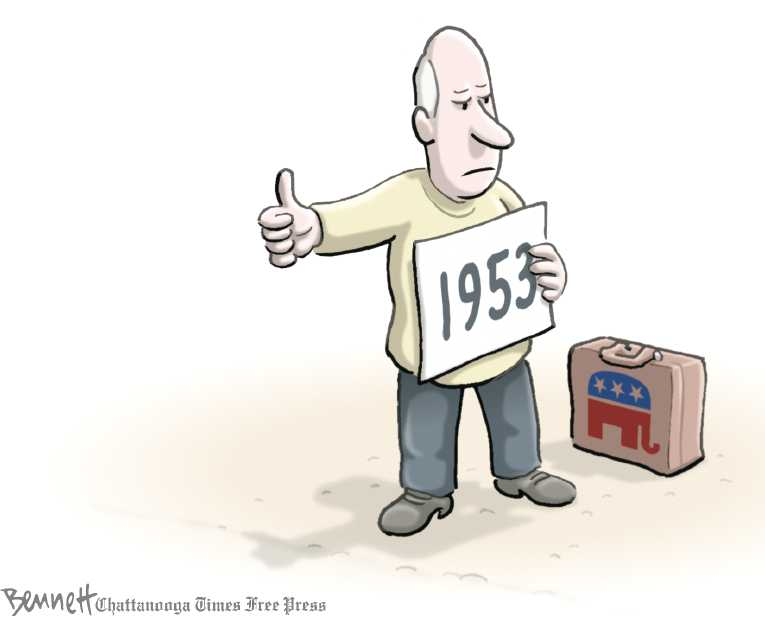 Political/Editorial Cartoon by Clay Bennett, Chattanooga Times Free Press on Republicans Mapping Out Course