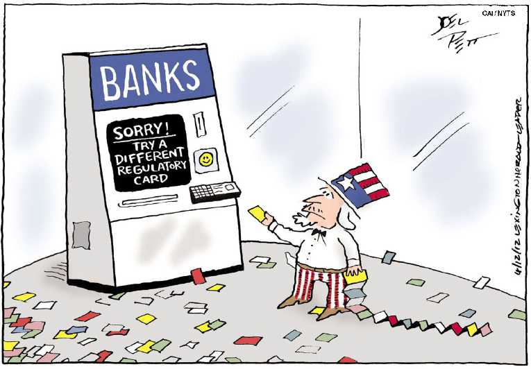 Political/Editorial Cartoon by Joel Pett, Lexington Herald-Leader, CWS/CartoonArts Intl. on Wealth Redistribution Escalates