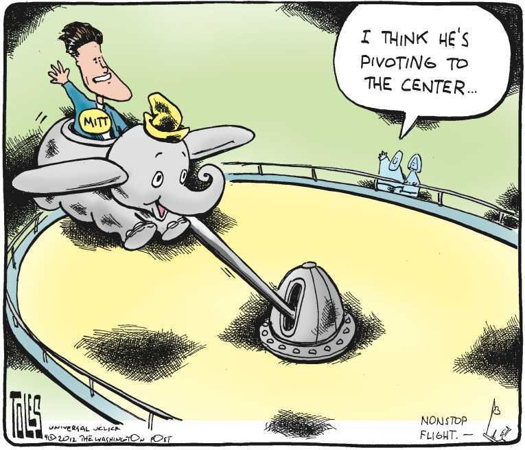 Political/Editorial Cartoon by Tom Toles, Washington Post on Santorum Drops Out