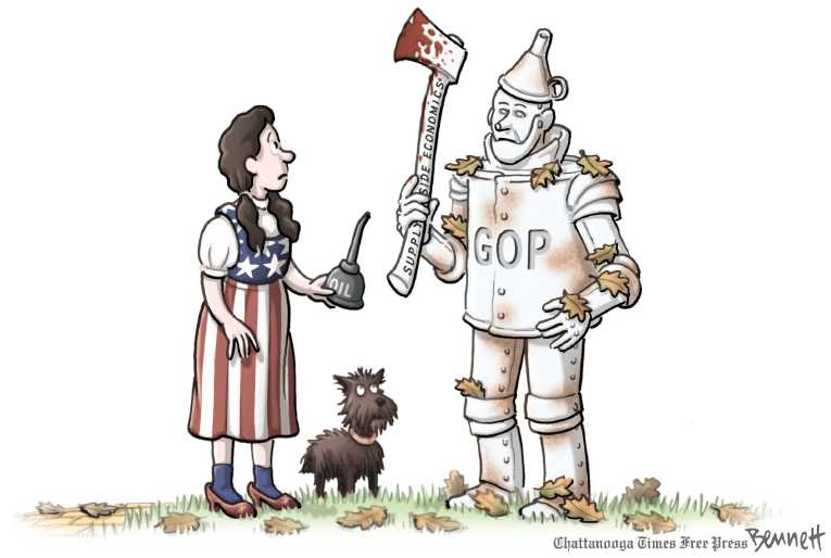 Political/Editorial Cartoon by Clay Bennett, Chattanooga Times Free Press on Economy Showing Signs of Life