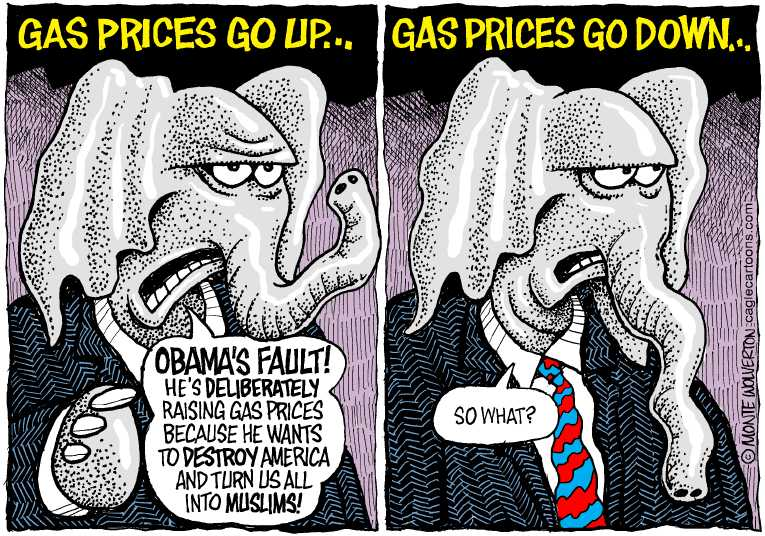 Political/Editorial Cartoon by Monte Wolverton, Cagle Cartoons on GOP Calls Out President