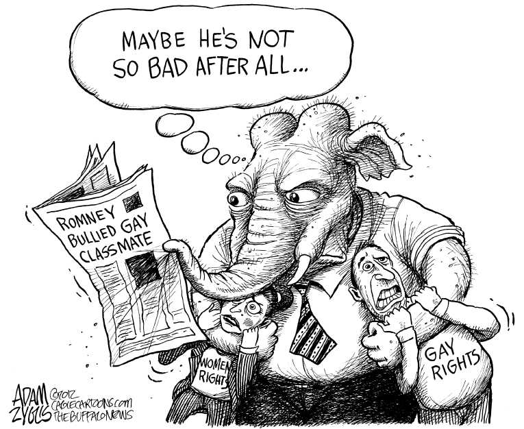Political/Editorial Cartoon by Adam Zyglis, The Buffalo News on GOP Gears Up for Fall Elections