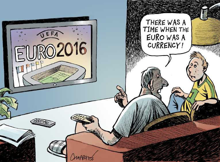 Political Cartoon On Euro Crisis Heightening By Patrick