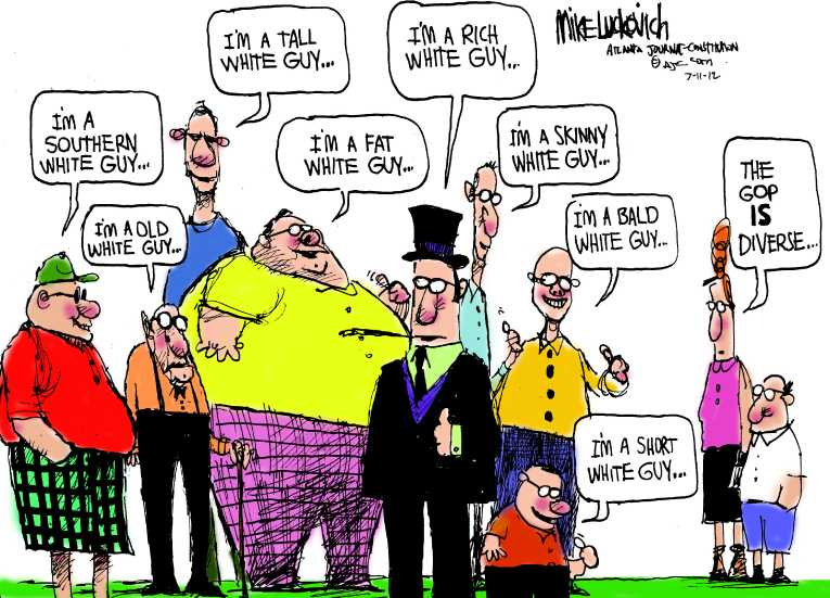 Political/Editorial Cartoon by Mike Luckovich, Atlanta Journal-Constitution on Republican Party Growing Confident