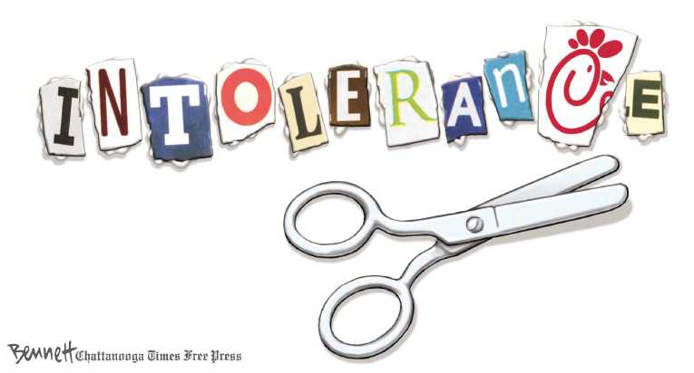 Political/Editorial Cartoon by Clay Bennett, Chattanooga Times Free Press on GOP Pursuing Traditional Values