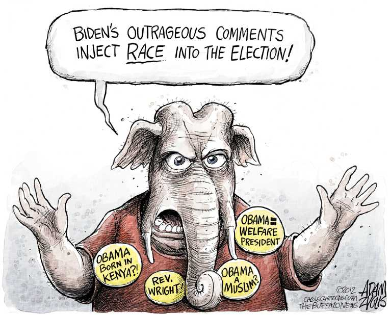 Political/Editorial Cartoon by Adam Zyglis, The Buffalo News on GOP Blasts Obama Campaign
