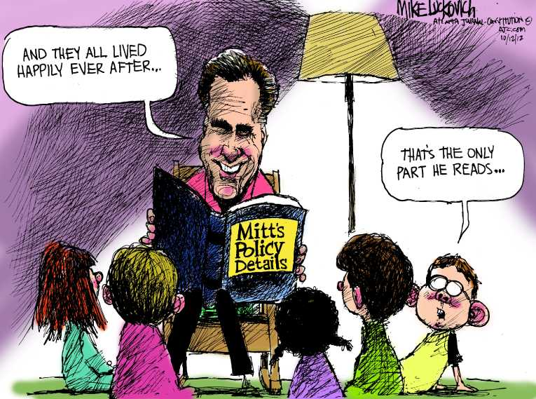Political/Editorial Cartoon by Mike Luckovich, Atlanta Journal-Constitution on Campaigns Hitting High Gear