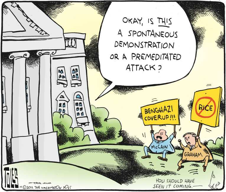 Political/Editorial Cartoon by Tom Toles, Washington Post on GOP Senators Double Down