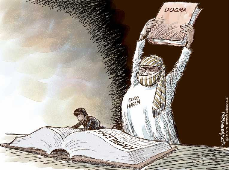 Political Cartoon On School Girls Abducted In Nigeria By Nick Anderson Houston Chronicle At The Comic News