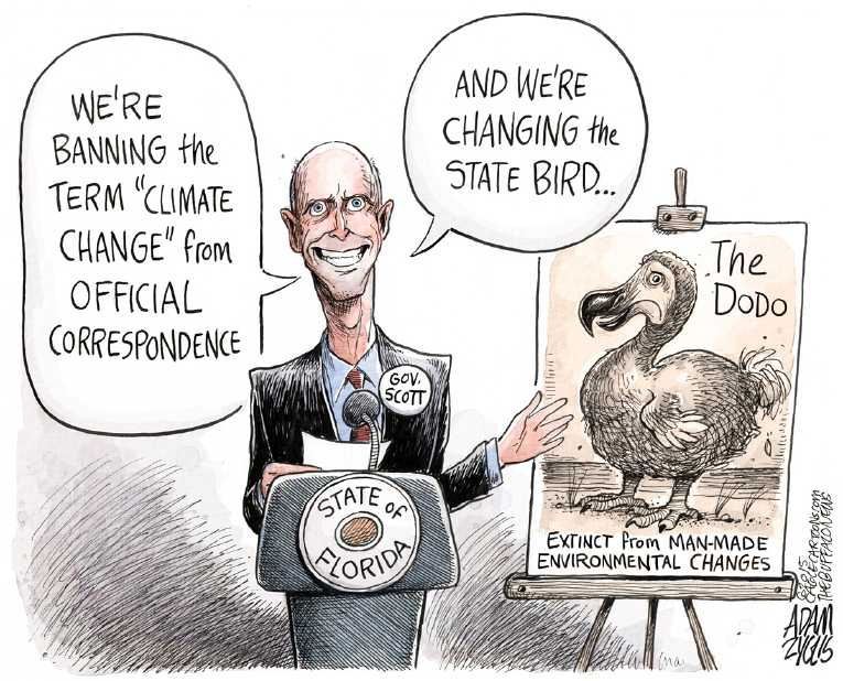 Political Cartoon On Republicans Deny Climate Change By