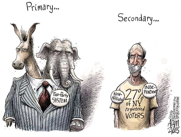 Political Cartoon On Voters Disenfranchised By Adam Zyglis