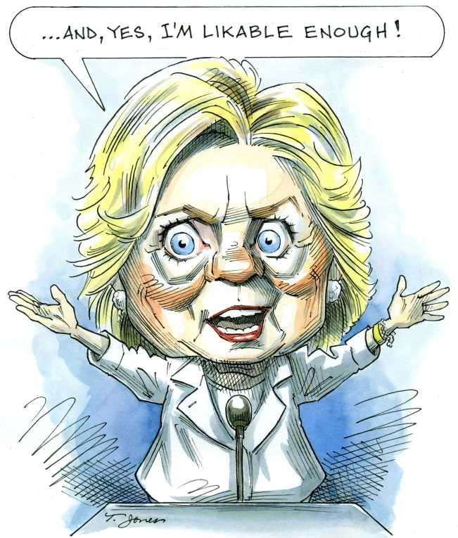 Political/Editorial Cartoon by Taylor Jones, Tribune Media Services on Clinton Making Her Case