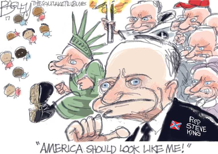 Political/Editorial Cartoon by Pat Bagley, Salt Lake Tribune on Team Trump Winning
