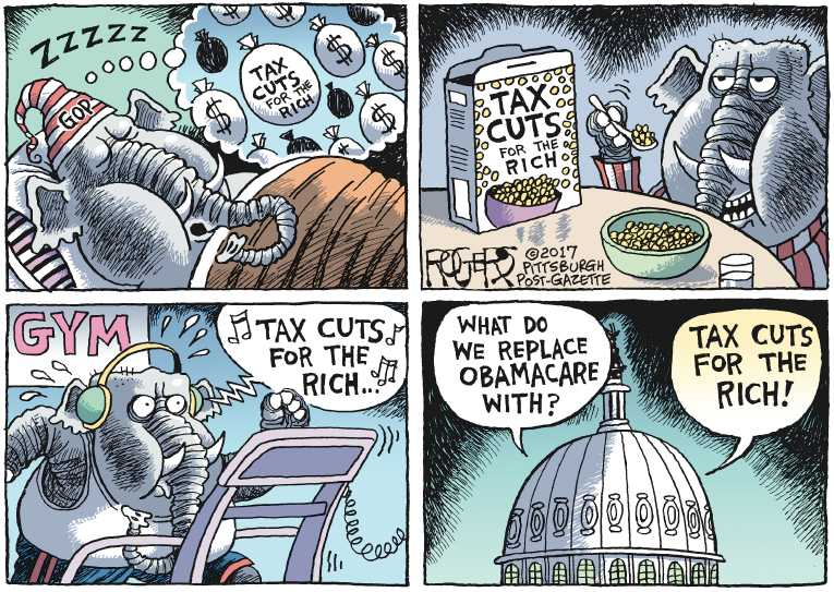 Political/Editorial Cartoon by Rob Rogers, The Pittsburgh Post-Gazette on In Other News