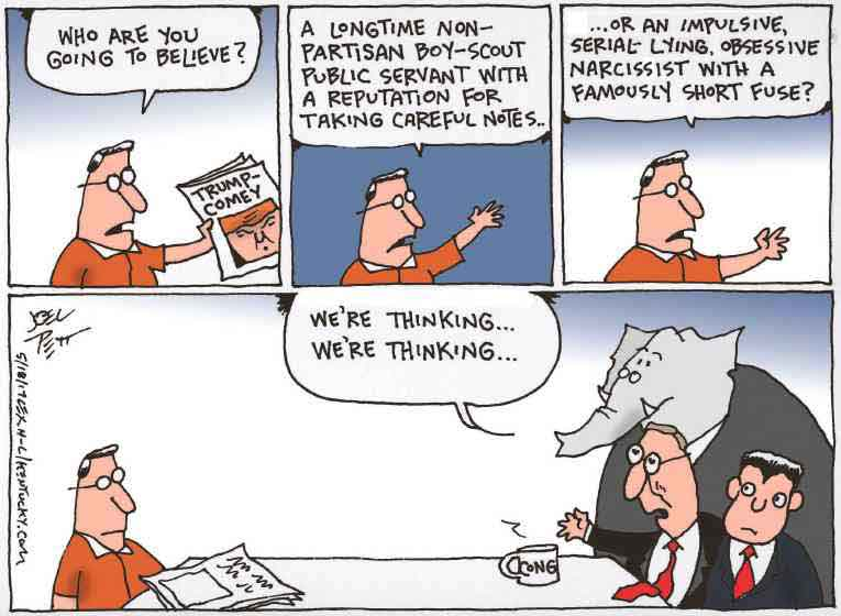 Political/Editorial Cartoon by Joel Pett, Lexington Herald-Leader, CWS/CartoonArts Intl. on GOP Leadership Remains Loyal