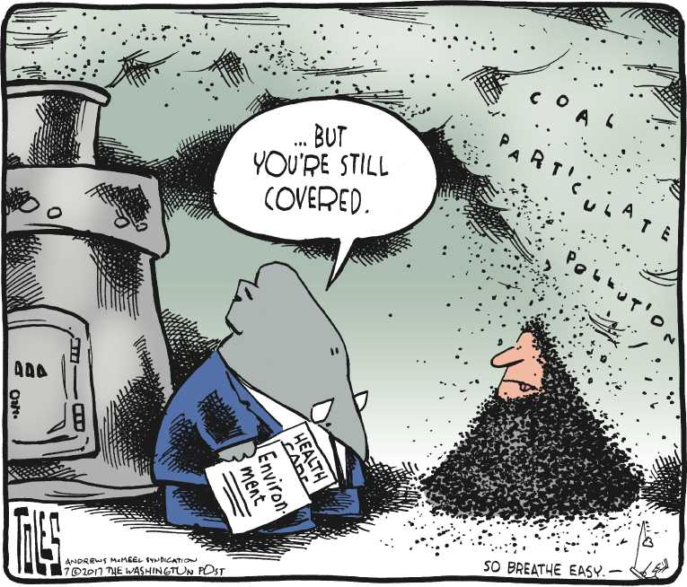 Political/Editorial Cartoon by Tom Toles, Washington Post on Senate Health Bill Stalled