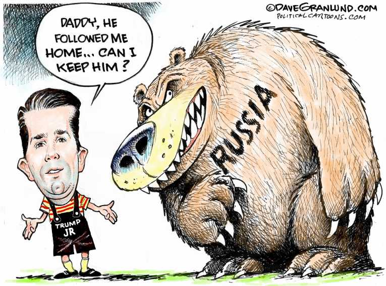 Political/Editorial Cartoon by Dave Granlund on Campaign Secretly Met Russians