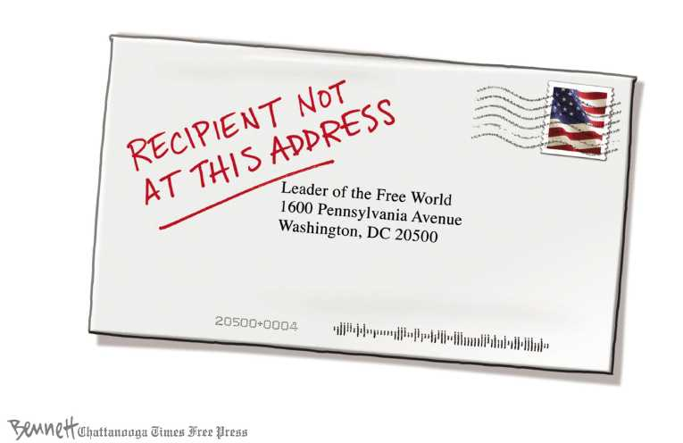 Political/Editorial Cartoon by Clay Bennett, Chattanooga Times Free Press on Presidency Taken to New Place
