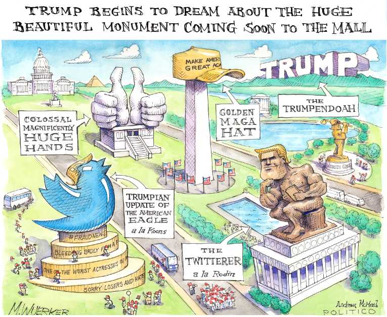 Political/Editorial Cartoon by Matt Wuerker, Politico on Presidency Taken to New Place