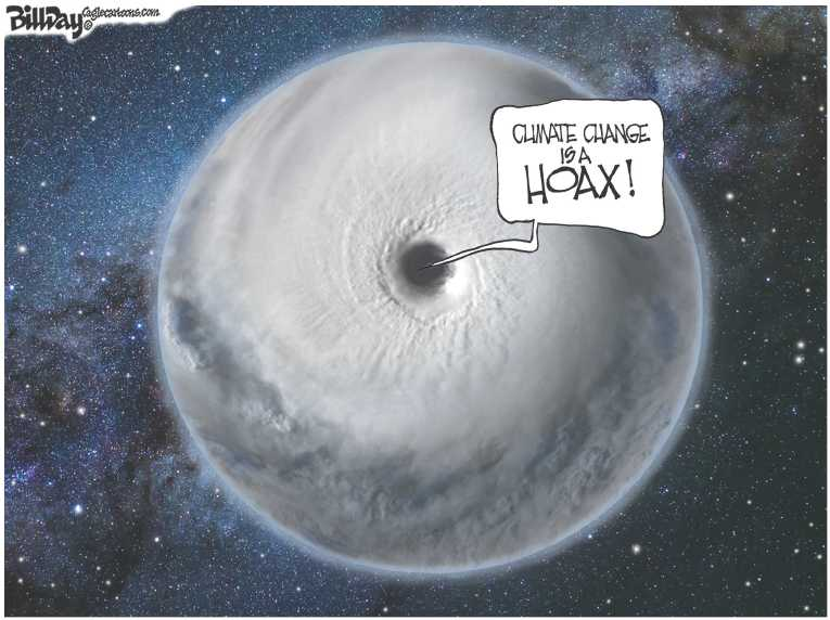 Political/Editorial Cartoon by Bill Day, Cagle Cartoons on Houston Recovery Begins
