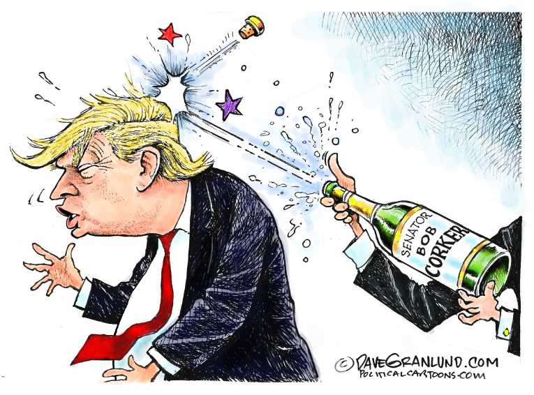 Political/Editorial Cartoon by Dave Granlund on President Doubles Down