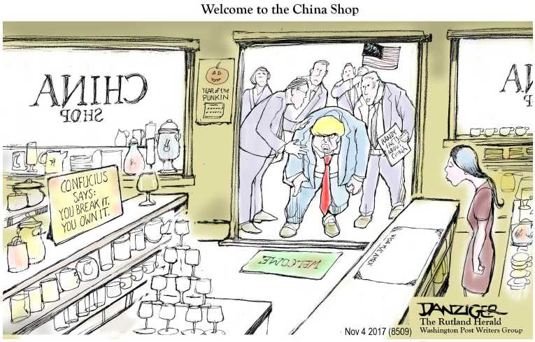 Political/Editorial Cartoon by Jeff Danziger on Trump's Base Thrilled