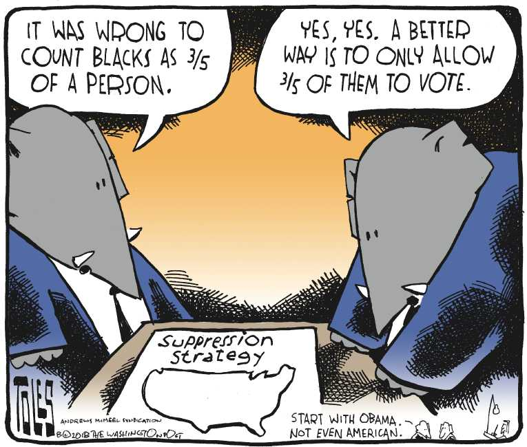Political Editorial Cartoon By Tom Toles Washington Post On Gop Fearing Blue Wave