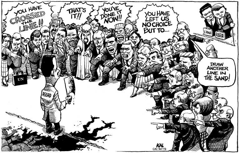 Political Cartoon on 'Standoff Continuing in Syria' by KAL ...