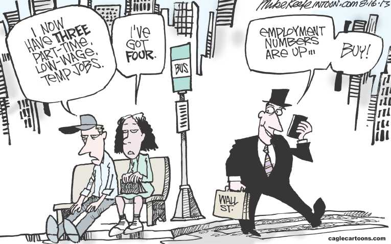Political Cartoon on 'Economy Bouncing Back' by Mike Keefe ...