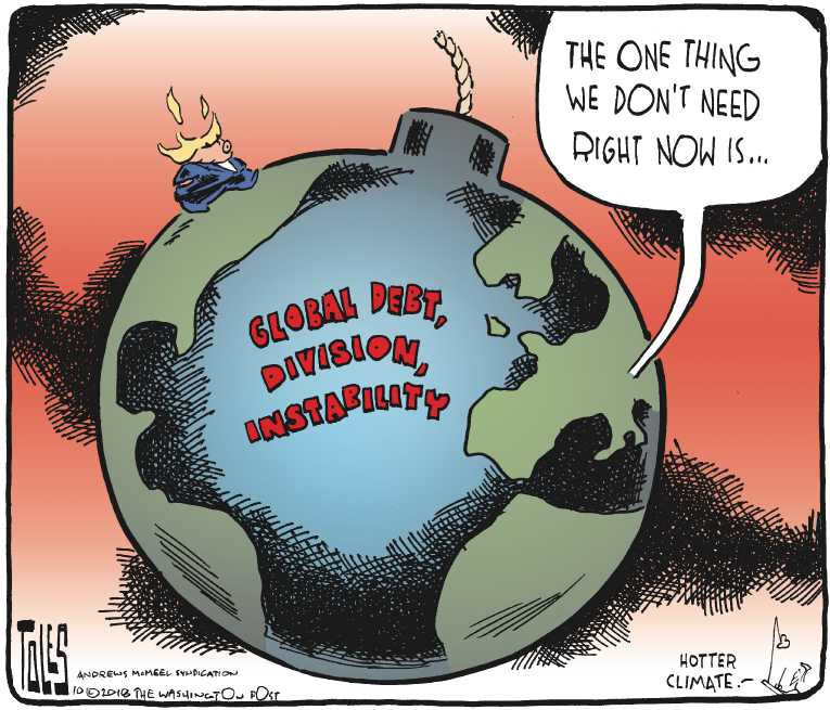 The Santa Cruz Comic News Political Cartoon on 'Trump Puts World on Notice' by Tom Toles ...