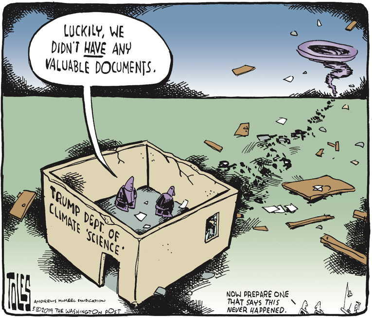 Political Cartoon on 'Environmental Laws Gutted' by Tom Toles, Washington Post at The Comic News